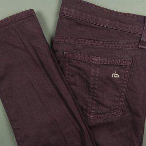 Rag & Bone Stretch Skinny Jeans in Wine Size 27